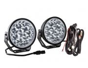 """Kings 7"""" Domin8r Xtreme Driving Lights Fitted with OSRAM LEDs (Pair) with Included Smart Wiring Harness 
