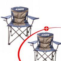 2x Adventure Kings Throne Camping Chair