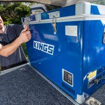 Adventure Kings 70L Camping Fridge/Freezer   Dual Zone   Secop Compressor   105 Can Capacity   12v/240v