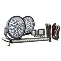 """Kings 9"""" Domin8r Xtreme Driving Lights Fitted with OSRAM LEDs (Pair) with Included 20"""