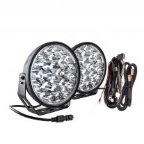 """Kings 9"""" Domin8r Xtreme Driving Lights Fitted with OSRAM LEDs (Pair) with Included Smart Wiring Harness 
