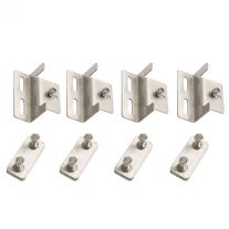 Solar Panel Mounting Brackets   To Suit Kings 110W Fixed Solar Panel   Mounting Hardware Incl.   Stainless Steel   Adventure Kings