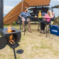 Kings Camp Oven Stove | Fully Enclosed | Adjustable Chimney | Packs Away Small | Runs on Heatbeads or Wood