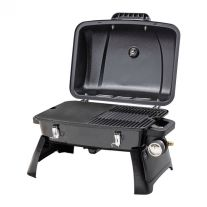 Gasmate Voyager Portable Gas BBQ | Temp Gauge | Hotplate/Grill | Runs off standard gas bottle