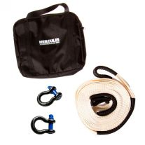 Hercules Snatch Strap Kit | 8t Snatch Strap | 2 x 4.7t Shackles | Inc. Heavy-Duty Canvas Bag