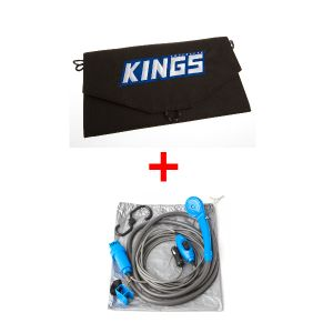 Adventure Kings 10W Portable Solar Kit + 12v Portable Shower Kit