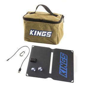 Adventure Kings Toiletry Canvas Bag + 10W Portable Solar Kit