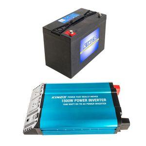 Adventure Kings AGM Deep Cycle Battery 115AH + Adventure Kings 1500W Inverter