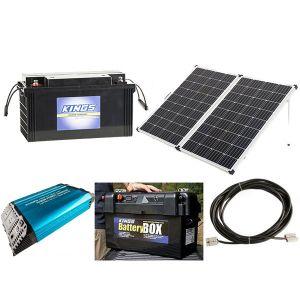 Adventure Kings AGM Deep Cycle Battery 98AH + Battery Box