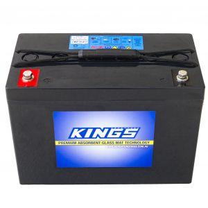 Kings 98Ah AGM Deep Cycle Battery | 12 Month Warranty | Adventure Kings