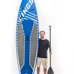 Kings Inflatable Stand-Up Paddle Board   10ft 6in   HUGE 150kg rating   Inc. Pump, paddle & more