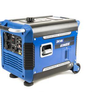 Kings 3kVA Portable Generator | 3000W Pure Sine-Wave Power | Great for caravans/job sites