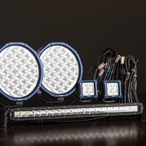"Pair of 9"" OSRAM LED Domin8rX Driving Lights, 20"" Light Bar & 2x 3"" Work Light Ultimate Pack