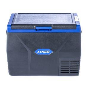 Kings 65L Fridge / Freezer | 12V & 240V | Fits 100 Cans | For Home, Car & Camping