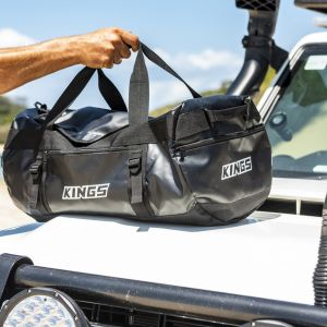 Kings 40L Large PVC Duffle Bag | Water Resistant | Heavy Duty | 600D Polyester