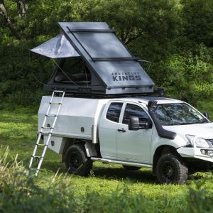 Grand Tourer MKII Aluminium Rooftop Tent | Redesigned Roof Bracing Kit | Incl Storage Pocket | 75mm Mattress