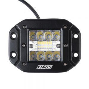 Kings Flush-Mount LED Worklights (Pair)   2,356 Lumens   To Suit Ute Tub Racks + More