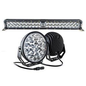 "Adventure Kings 24"" Laser Light Bar + 9"" LED Driving Lights (pair)"