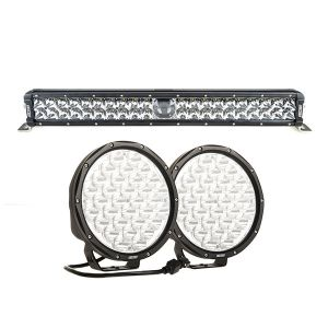 "Adventure Kings 24"" Laser Light Bar + 9"" LED Driving Lights (pair)"