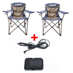 2x Adventure Kings Throne Camping Chair + Adventure Kings Heads Up Display (HUD)