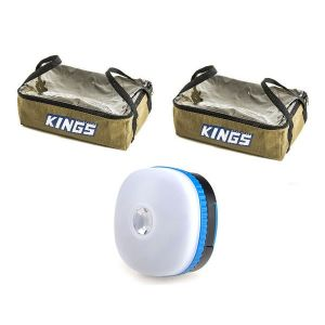 2 x Adventure Kings Clear Top Canvas Bag + Mini Lantern