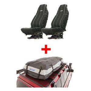 Adventure Kings Premium Waterproof Roof Top Bag + Adventure Kings Heavy Duty Seat Covers (Pair)
