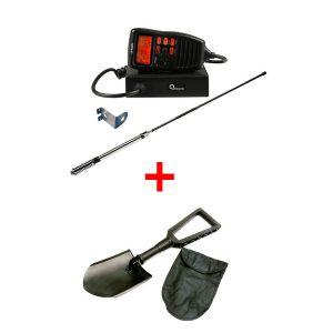 Oricom UHF380PK In-Car 5W CB Radio + Recovery Folding Shovel