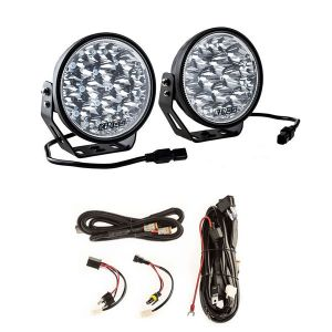 """Adventure Kings Domin8r Xtreme 7"""" LED Driving Lights (Pair) + Plug N Play Smart Wiring Harness Kit"""