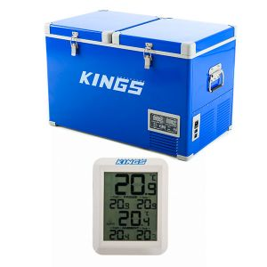 Adventure Kings 70L Camping Fridge/Freezer + Adventure Kings Wireless Fridge Thermometer