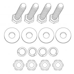 Part - Mounting Bolts for 80 Series 1070mm Drawers