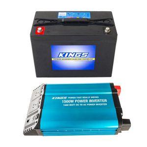 Adventure Kings AGM Deep Cycle Battery 98AH + Adventure Kings 1500W Inverter