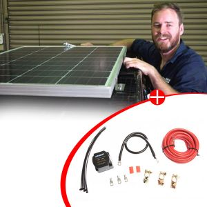 Adventure Kings 110w Fixed Solar Panel + Adventure Kings Dual Battery System
