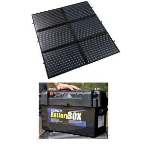 Adventure Kings 200W Portable Solar Blanket + Maxi Battery Box
