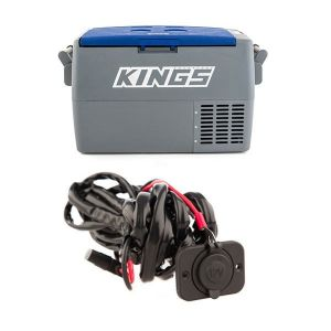 Adventure Kings 45L Camping Fridge + 12V Fridge Wiring Kit