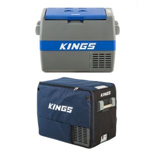 Adventure Kings 60L Camping Fridge/Freezer + Adventure Kings 60L Camping Fridge Cover
