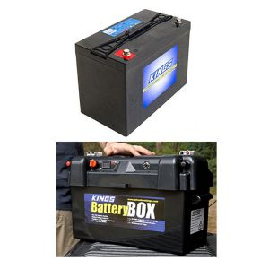 Adventure Kings AGM Deep Cycle Battery 115AH + Maxi Battery Box