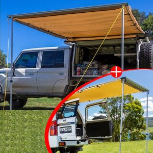 Adventure Kings Awning 2x3m + Adventure Kings Rear Awning 1.4 x 2m