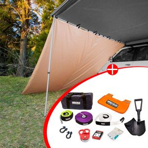 Adventure Kings Awning Side Wall + Hercules Complete Recovery Kit