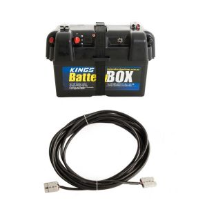 Adventure Kings Battery Box + 10m Lead For Solar Panel Extension
