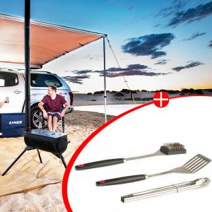 Adventure Kings Camp Oven/Stove + BBQ Tool Set