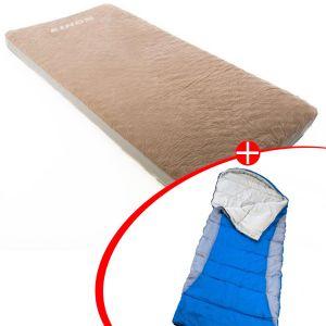 Adventure Kings Self-Inflating Foam Mattress - Single + Right Hooded Sleeping Bag