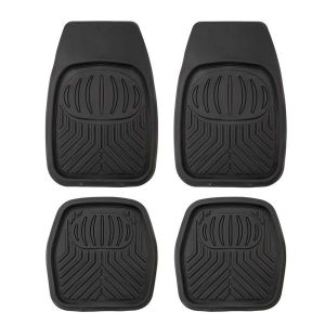 4 Pack Kings Deep Dish Floor Mats   Heavy Duty Rubber   Universal Fit   Easy to Clean