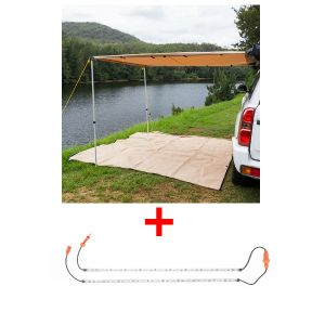 Adventure Kings 2 x 3m 2 in 1 Awning + Strip Light + Orange LED Camp Light Extension Kit