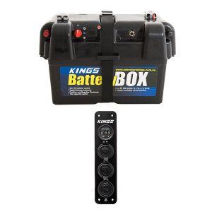 Adventure Kings Battery Box + 12V Accessory Panel