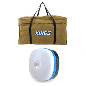 BBQ Canvas Bag + Adventure Kings Mini Lantern