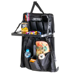 Adventure Kings Premium Car Seat Organiser with Folding Table   12 Pockets   Universal Fit   600DD Oxford Fabric