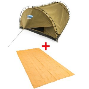 Adventure Kings Double Swag Big Daddy Deluxe + Adventure Kings - Mesh Flooring 6m x 3m