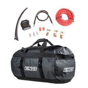 Adventure Kings Dual Battery System + 80L Extra-Large PVC Duffle Bag