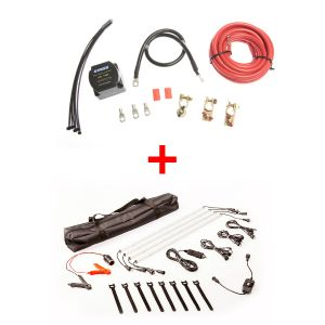 Adventure Kings Dual Battery System + 4 Bar Camp Light Kit