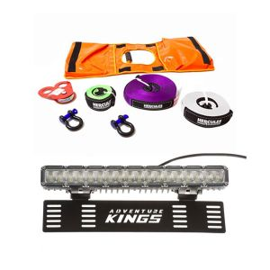 "15"" Numberplate LED Light Bar + Hercules Essential Recovery Kit"